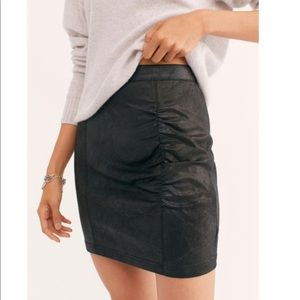 NWT Free People Rumi Ruched Mini Skirt